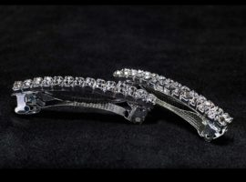2 row crystal barrette
