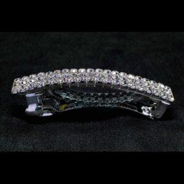 3 row crystal barrette