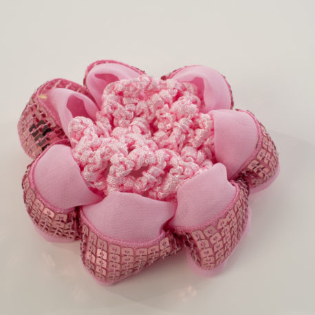 BUN COVER WITH SHINY SEQUINS-PINK