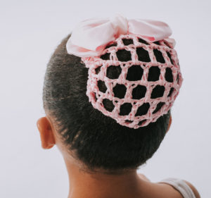PINK BOW WITH SNOOD