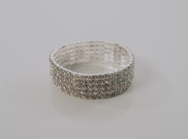 5 ROW CRYSTAL STRETCH BRACELET