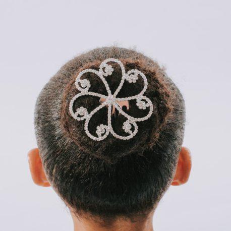 CRYSTAL SWIRL HAIR COMB
