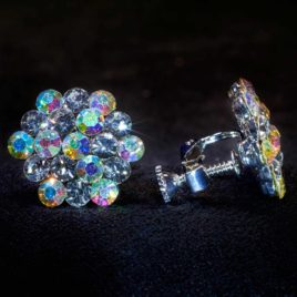 cyrstal AB mixed cluster earrings