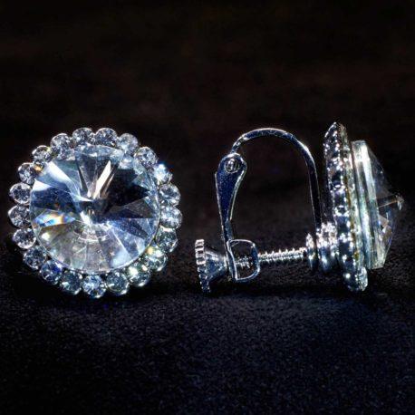 crystal ball earrings