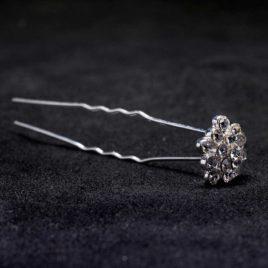 crystal cluster hair pin