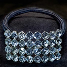 crystal decor ponytail elastic