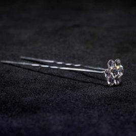 crystal flower hair pin