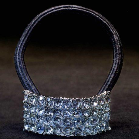 crystal ponytail elastic