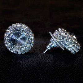 crystal rimmed earrings