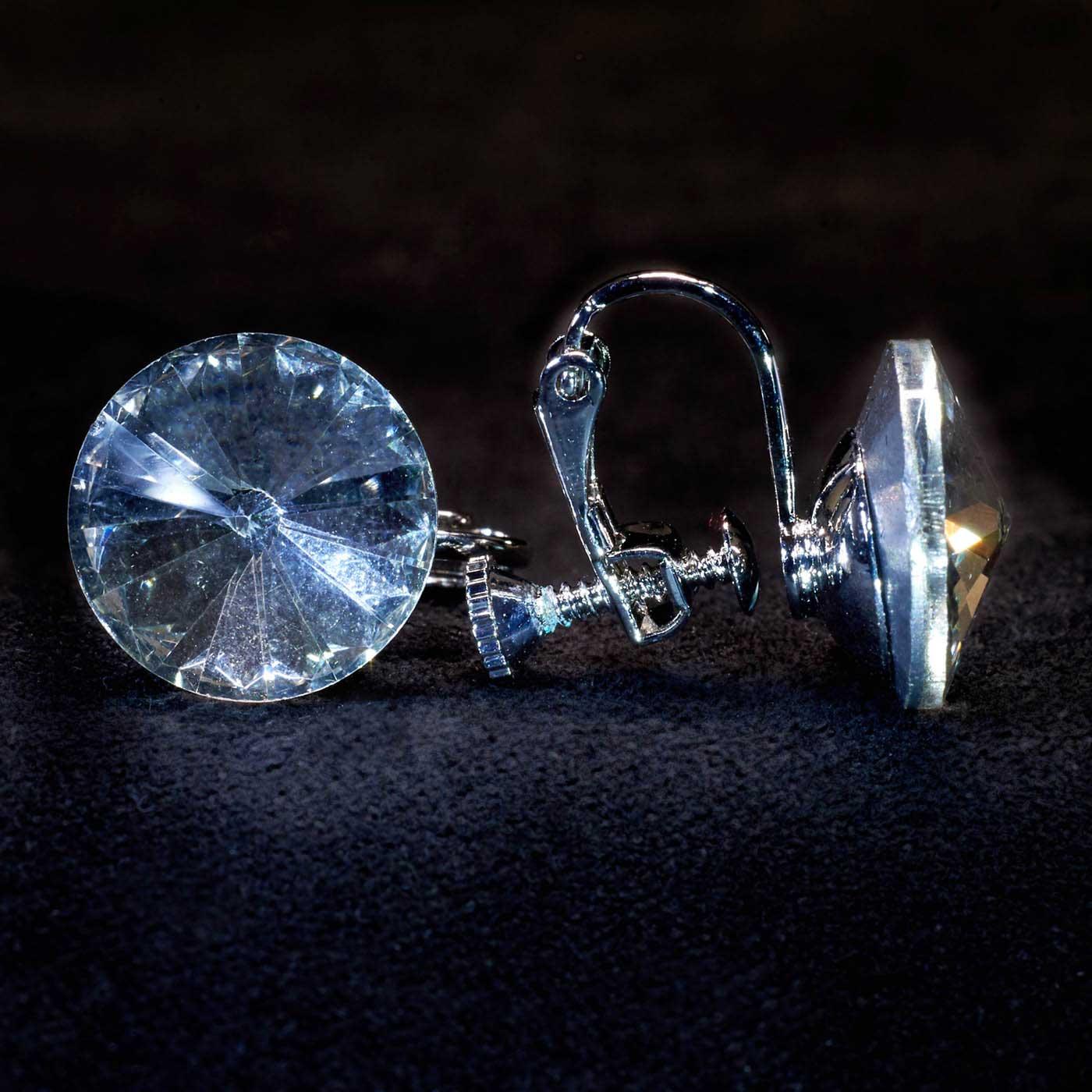 Crystal Stud 15mm Clip
