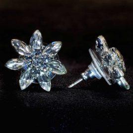 crystal sunflower earrings