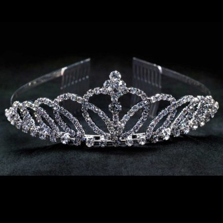 crystal tiara with comb