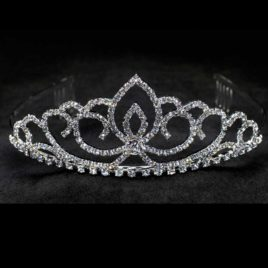 crystal tiara with comb