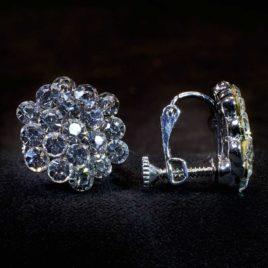cyrstal cluster earrings