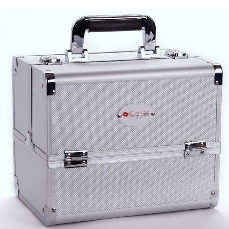 Silver ABS makeup case