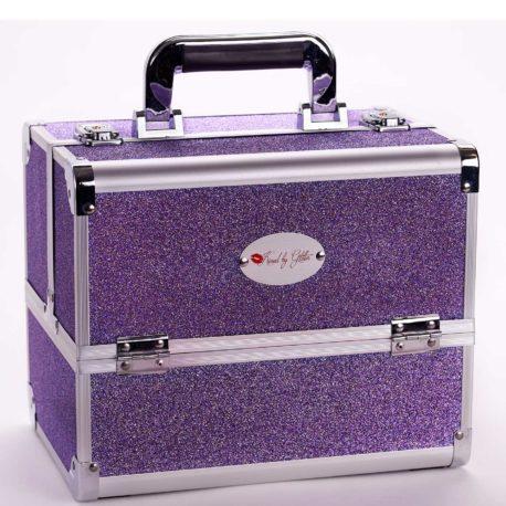 Sparkly purple makeup case